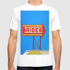 Let's Ride Mens Fitted Tee MEDIUM White