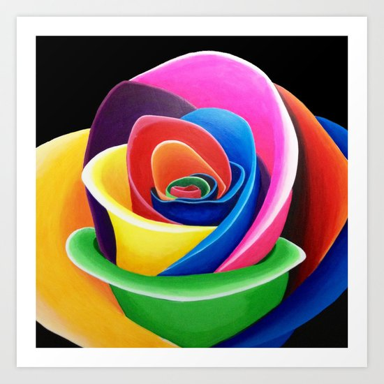 Rainbow Flower Art Print