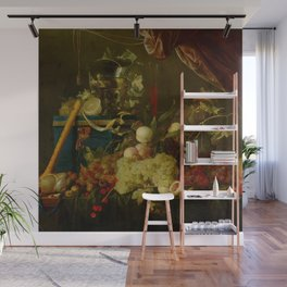 "Jan Davidsz de Heem ""Sumptuous Fruit Still Life with Jewellery Box"" Wall Mural"