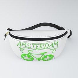 Amsterdam Hemp bicycle art Fanny Pack