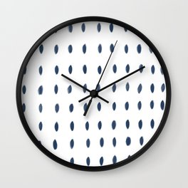 Paint Dabs in Blue Wall Clock