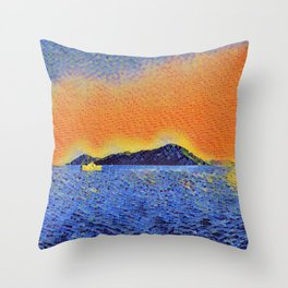 Island2 Throw Pillow