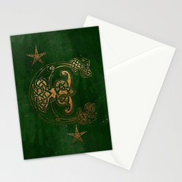 Hunter and Gold Celtic Stationery Cards