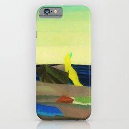 Sunbathers on the Beach by Lyonel Feininger iPhone Case