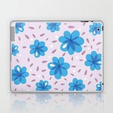 Gentle Blue Flowers Pattern Laptop & iPad Skin