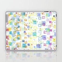 Light Squares with Drops Pattern Laptop & iPad Skin