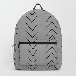 Mud Cloth Big Arrows Grey Backpack