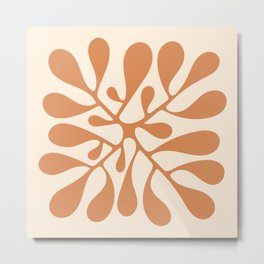 Matisse Inspired Abstract Cut Out orange Metal Print
