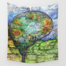 Neuronal Mind Wall Tapestry