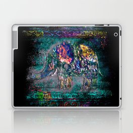 Fantastic elephant in grunge style Laptop & iPad Skin