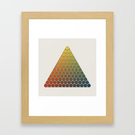 Lichtenberg-Mayer Colour Triangle vintage remake, based on Mayers' original idea and illustration Framed Art Print