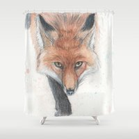 rogue Shower Curtains featuring The Rogue by Tahirih Goffic