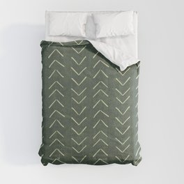 Mudcloth Big Arrows in Leaf Green Comforters
