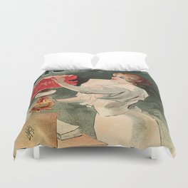 Electricine, French luxury lighting vintage ad Duvet Cover