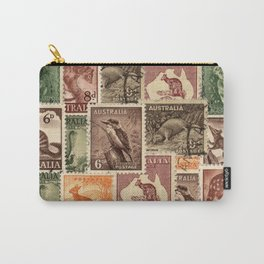 Vintage Australian Postage Stamps Collection Carry-All Pouch