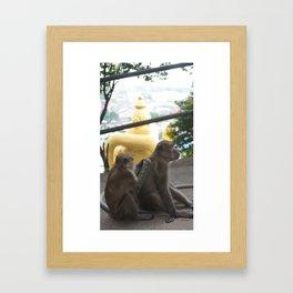 Batu Caves Monkey Framed Art Print