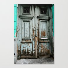 Turquoise Door Canvas Print