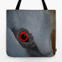 Victoria Crowned Pigeon Eye  Tote Bag