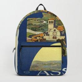Vintage poster - Assisi Backpack