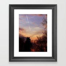 Sunset Streak Framed Art Print