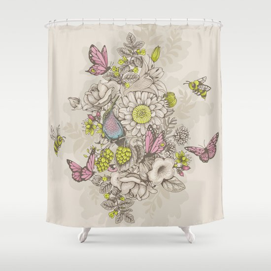 Beauty (eye of the beholder) - cream version Shower Curtain
