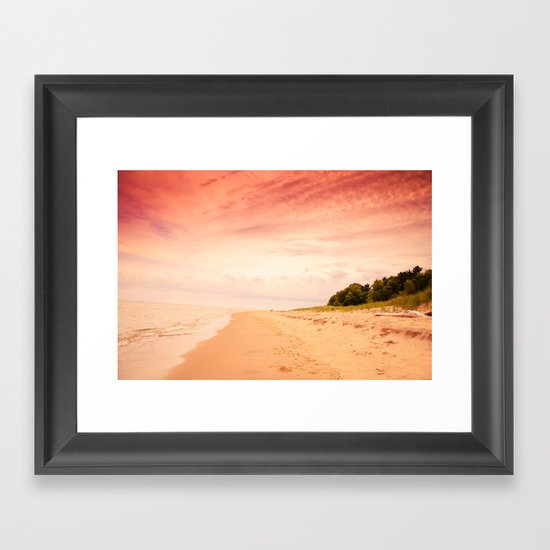 Fire in the Sky. Framed Art Print