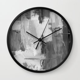 Paint (Black and White) Wall Clock