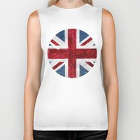 union jack Biker Tanks featuring Union Jack by Renato Verzaro