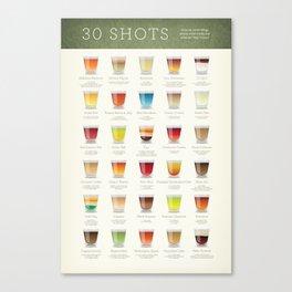 30 Shots (wide) Canvas Print