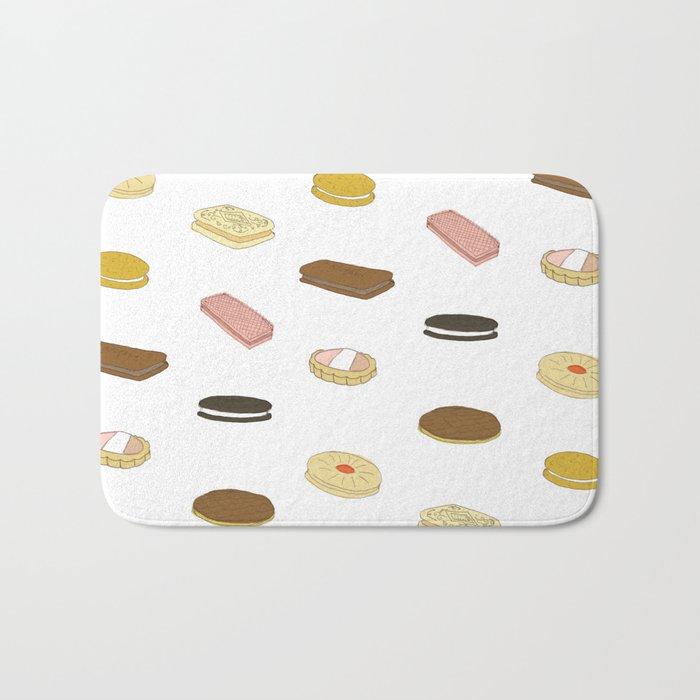 biscui - biscuit pattern Bath Mat