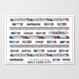 The Transit of Greater Salt Lake City Canvas Print