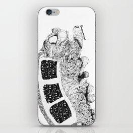 Studio Ghibli Cat Bus Black & White Zentangle Drawing Doodle iPhone Skin