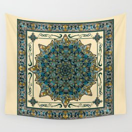 Stained Glass Mandala 2 Wall Tapestry