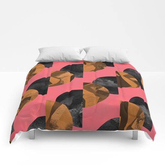 gold,black Comforters