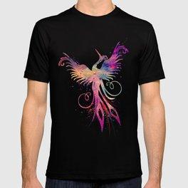 Phoenix Art Colorful Purple Watercolor Art Gift Nursery Art Bird Art Mythology Gift Sun Art T-shirt