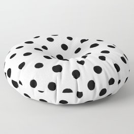 Modern Handpainted Abstract Polka Dot Pattern Floor Pillow