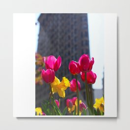 Tulips In NYC Metal Print