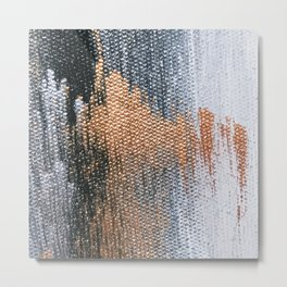 Rose Gold Dream - Abstract Oil Painting Metal Print