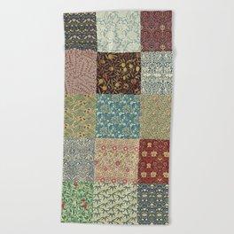 William Morris Collage Beach Towel