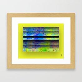 Yellow Color Blinds Framed Art Print