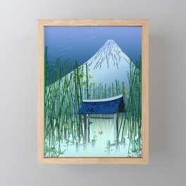 A moonless night Framed Mini Art Print