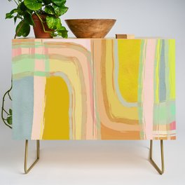 Shapes and Layers no.28 - Modern Squares and Stripes Credenza