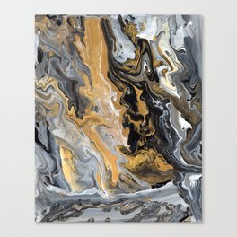 Gold Vein Marble Canvas Print