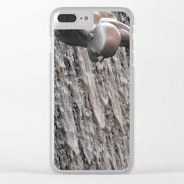 Dubai Waterfall Clear iPhone Case