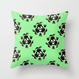 Emblem Pattern: Mint Throw Pillow