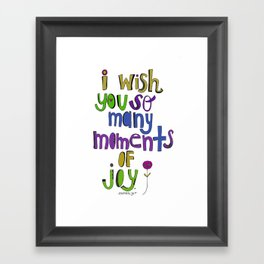 Moments of Joy. Framed Art Print