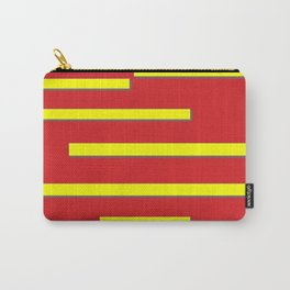 Bright Red and Bright Yellow Graphic Design Carry-All Pouch