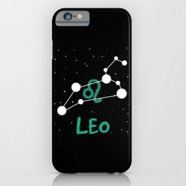 Leo Astrological Sign iPhone Case