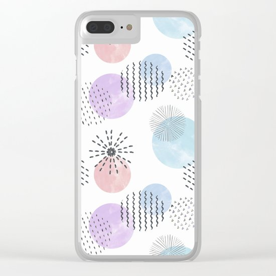 Abstraction 1 Clear iPhone Case
