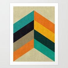 Minimalist and colorful chevron Art Print